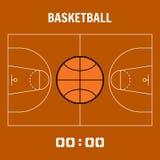 Basketball court, the plan field. Sports ball flat icon Stock Photos