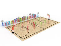 Basketball court with players and spectators №6 Stock Images