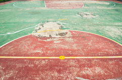 Basketball  Court 2. Basketball  Court red and green Stock Photos