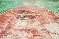 Basketball  Court. Red and green Royalty Free Stock Image