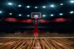 Basketball court Regen auf dem Stadion Lizenzfreies Stockfoto