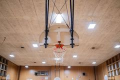 Basketball court room in a school royalty free stock photography