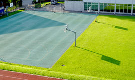 Basketball court and Running track Royalty Free Stock Images