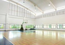 Basketball court. School gym indoor Stock Images