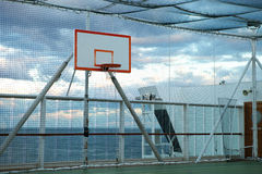 Basketball court at sea Royalty Free Stock Photos