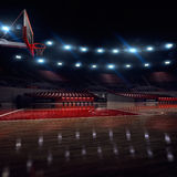 Basketball court. Sport arena. 3d render background. unfocus in long shot distance Stock Photo