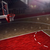Basketball court. Sport arena. Stock Photos