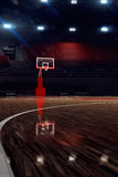 Basketball court. Sport arena. 3d render background. unfocus in long shot distance Royalty Free Stock Photos