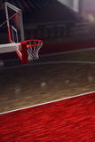 Basketball court. Sport arena. 3d render background. unfocus in long shot distance Royalty Free Stock Photography