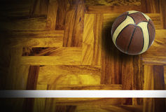 Basketball. Court sport game blue sky for background design Royalty Free Stock Photos