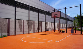 Basketball court sport outdoor public Stock Photography