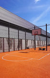 Basketball court sport outdoor public Stock Images