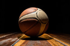 Basketball on Court. Sports ball Royalty Free Stock Photo