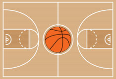 Basketball court symbol, vector  Royalty Free Stock Image