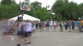 Basketball Court Time-lapse stock video