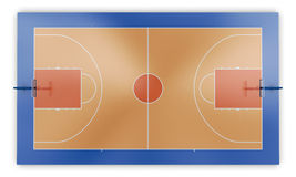 Basketball court top view Royalty Free Stock Image