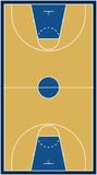 Basketball court (vector) Royalty Free Stock Photography