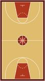Basketball court (vector) Royalty Free Stock Images