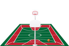 Basketball court vector illustration Stock Photos