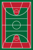 Basketball court vector illustration Royalty Free Stock Photos