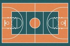 Basketball court, vector illustration. Urban street basketball court. Realistic vector illustration vector illustration