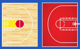 Basketball 3x3 court vector. Basketball 3x3 indoor outdoor court vector illustration background layout royalty free illustration