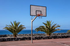 Basketball court Stock Photography