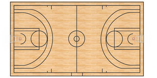 Basketball court  #3 Royalty Free Stock Image