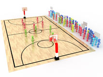 Free Basketball Court With Players And Spectators №2 Royalty Free Stock Image - 40649816
