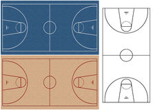 Basketball courts Royalty Free Stock Image