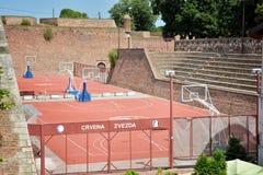Basketball courts inside Belgrade Fortress, Belgrade, Serbia Stock Image