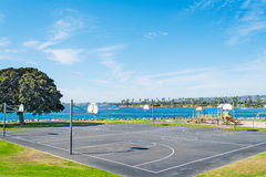 Basketball courts in Mission Bay Stock Photo