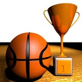 Basketball and cup Stock Image