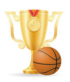 Basketball cup winner gold stock vector illustration Stock Photos