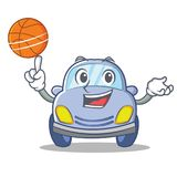With basketball cute car character cartoon Stock Image