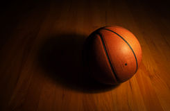 Basketball in dark background Royalty Free Stock Photography
