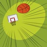 Basketball in das Netz Lizenzfreie Stockbilder