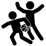 Basketball Defense Icon Vector royalty free illustration