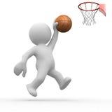 Basketball des Menschen 3d Lizenzfreie Stockfotos
