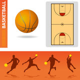 Basketball design elements Royalty Free Stock Image