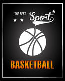 Basketball design  over black background vector illustration Stock Images