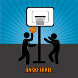 Basketball design  over blue background vector illustration Royalty Free Stock Photo