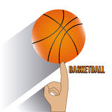 Basketball design  over white background vector illustration Stock Images