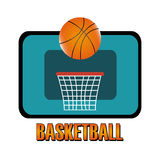 Basketball design  over white background vector illustration Royalty Free Stock Image
