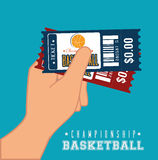 Basketball design, vector illustration. Royalty Free Stock Image