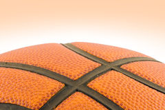 Basketball detail with clippin Stock Image