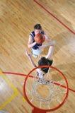 Basketball duel Stock Image