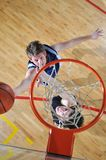 Basketball duel stock photo