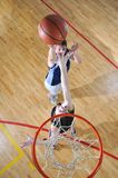 Basketball duel Stock Images