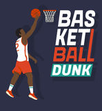 Basketball dunk Royalty Free Stock Photo